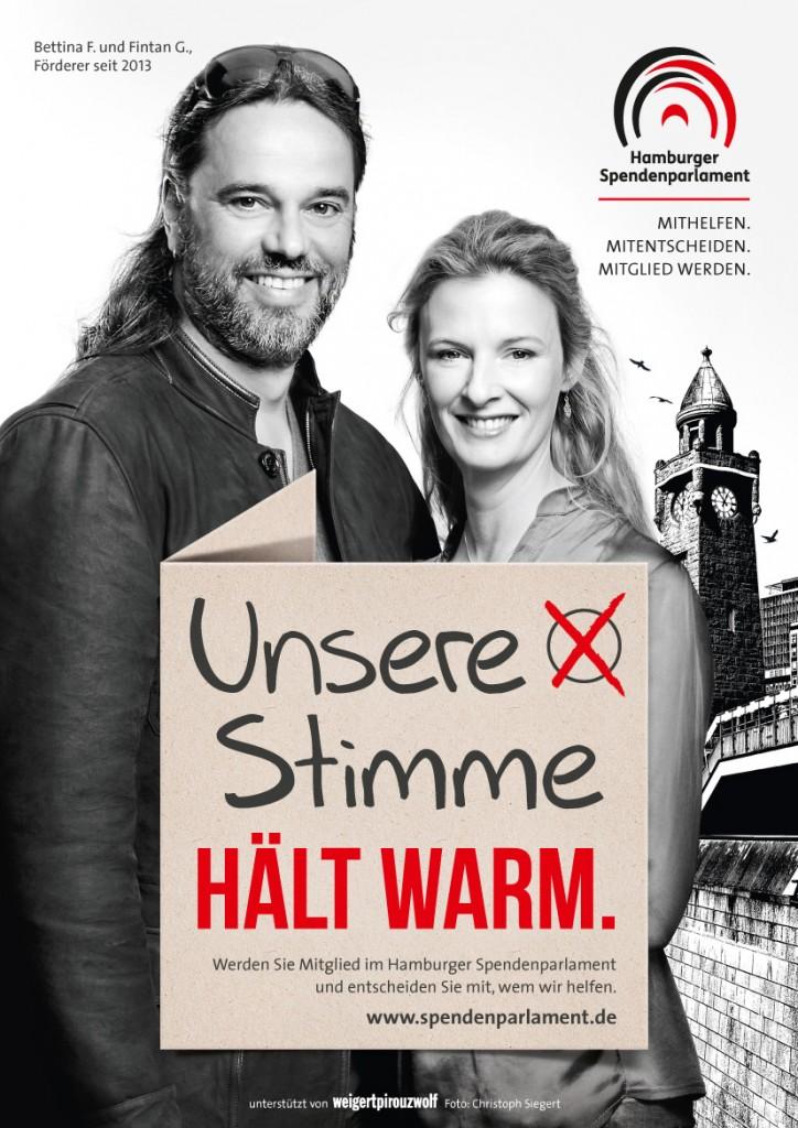 Betty & Fintan.- Unsere Stimme hält warm (c) Hamburger Spendenparlament