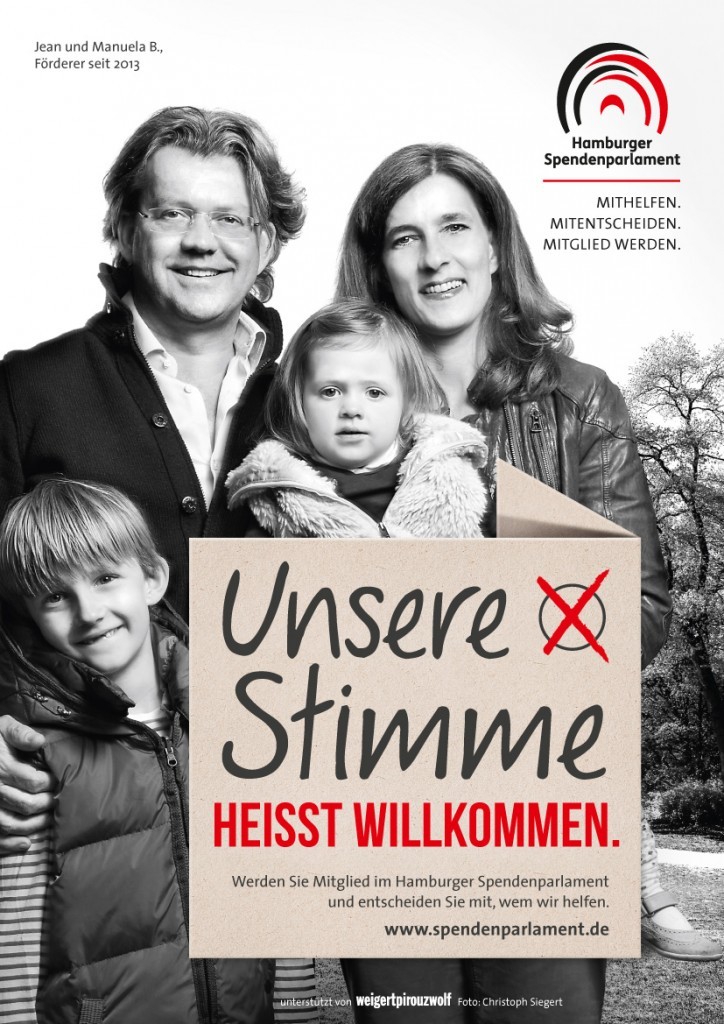 Familie B.- Unsere  Stimme heißt willkommen (c) Hamburger Spendenparlament