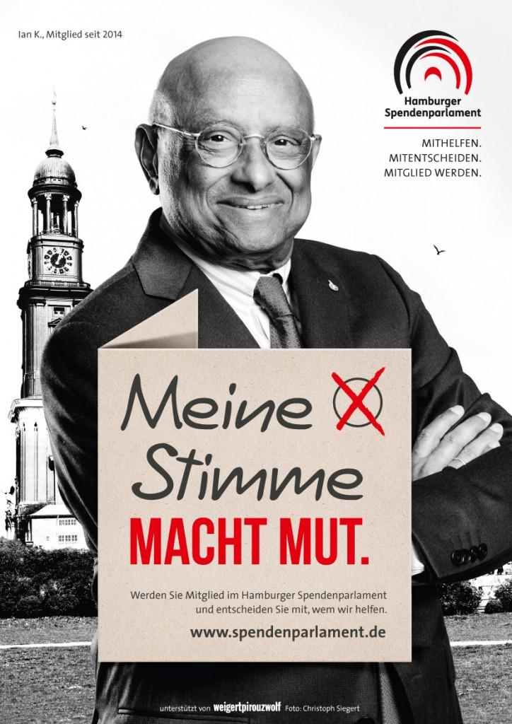 Ian Karan.- Meine Stimme macht Mut (c) Hamburger Spendenparlament
